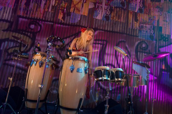 Percussionist & DJ Lyndsay is very experienced.
